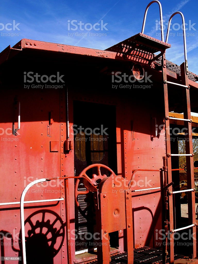 The Red Caboose royalty-free stock photo