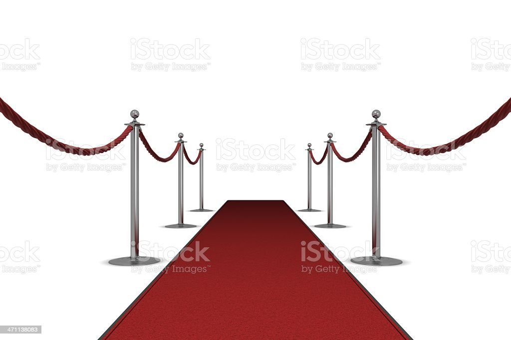 The red carpet royalty-free stock photo
