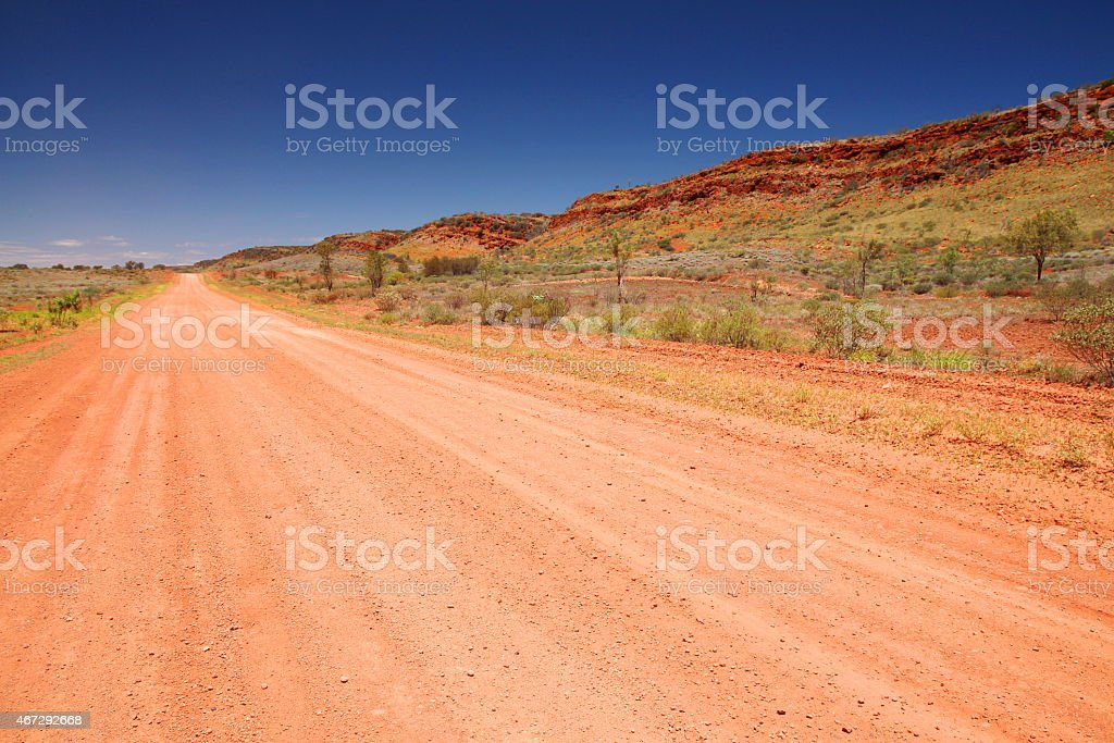 The red centre of Australia stock photo