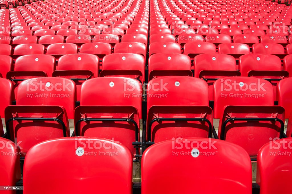 The red chairs. stock photo