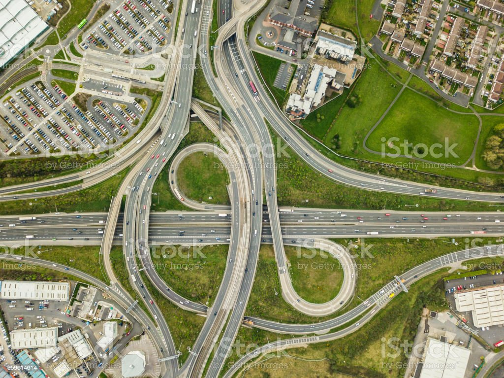 The Red Cow roundabout, Dublin, Ireland. stock photo