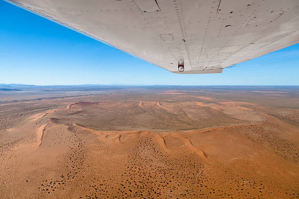The Red Crater in Namibia stock photo