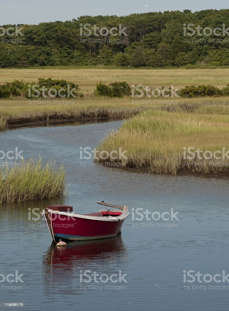 The Red Dory royalty-free stock photo