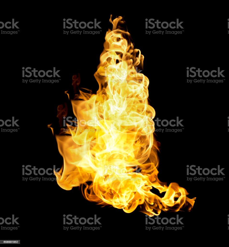 The red flames royalty-free stock photo