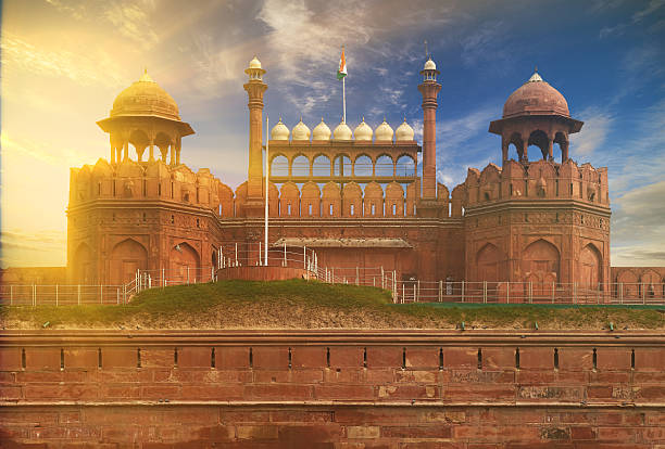 Cтоковое фото Красный форт в Дели, Индия.