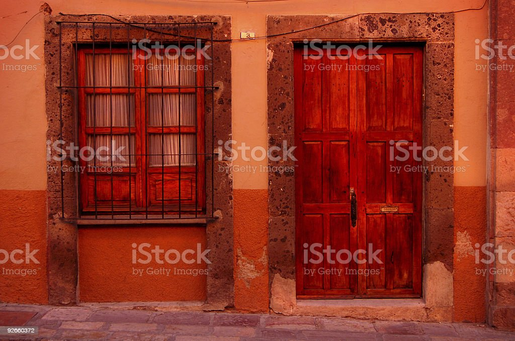 The Red house royalty-free stock photo