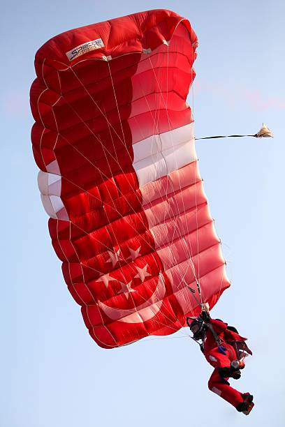 The Red Lions Parachute stock photo