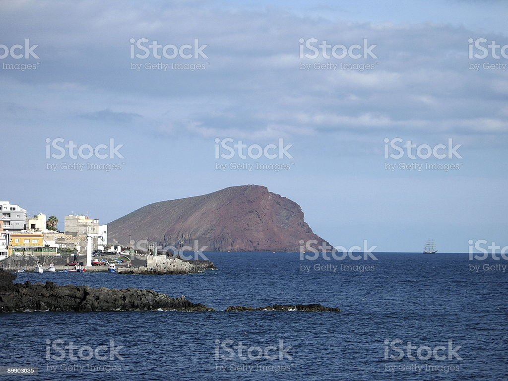 The Red Mountain and Los Abrigos royalty-free stock photo