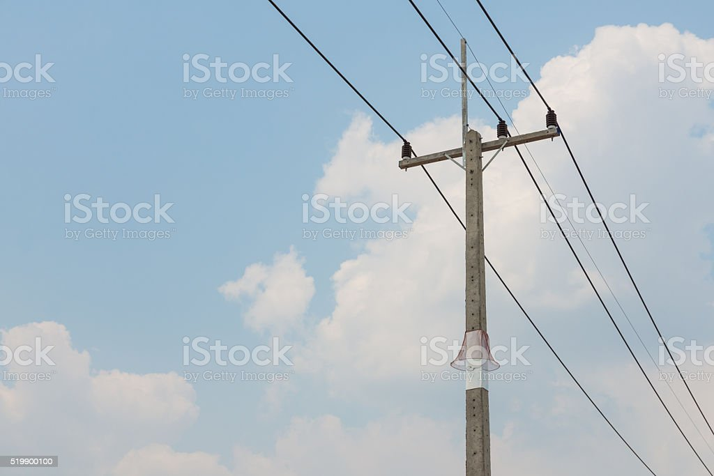 The Red Net For Animal Guard For Power Electrical Column stock photo ...