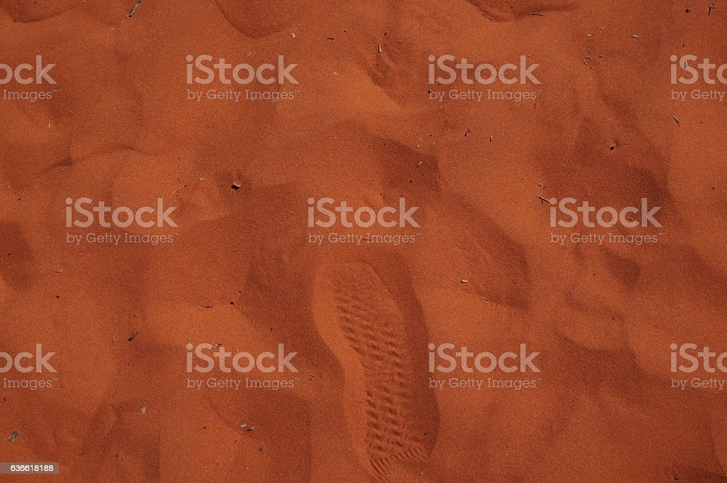The red Outback stock photo