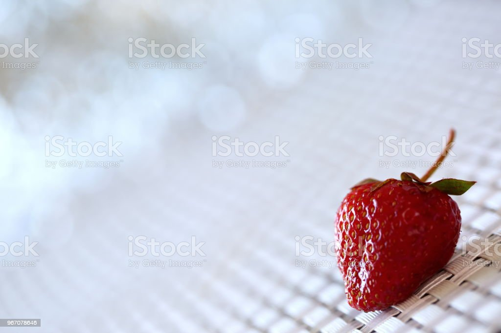 The red strawberry is a juicy and the most sumptuous fruit with a lot of vitamins. stock photo
