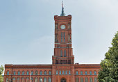 The Red Townhall or Rotes Rathaus in Berlin, Germany.