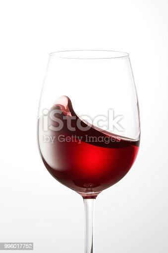 the red wine on white