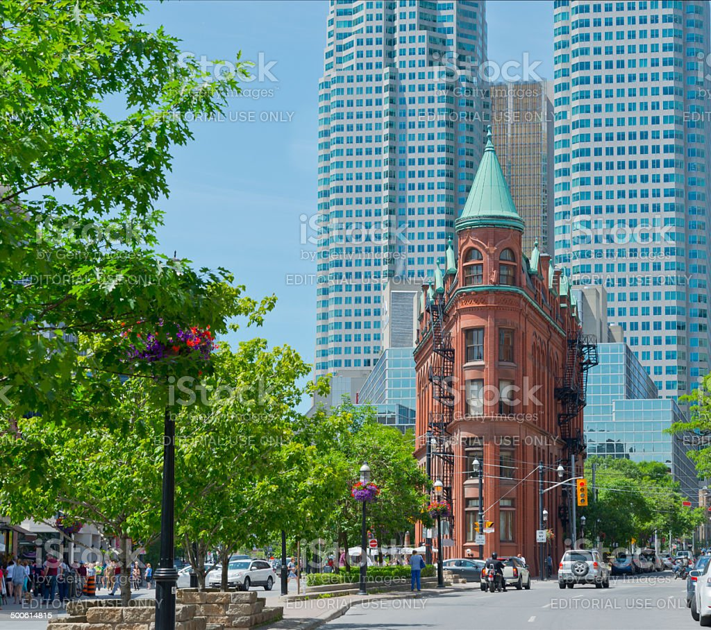 The red-brick Gooderham Building royalty-free stock photo
