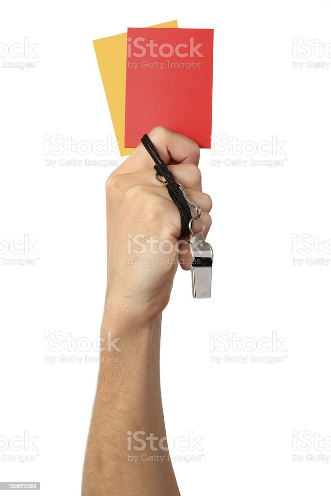 The referee objects royalty-free stock photo
