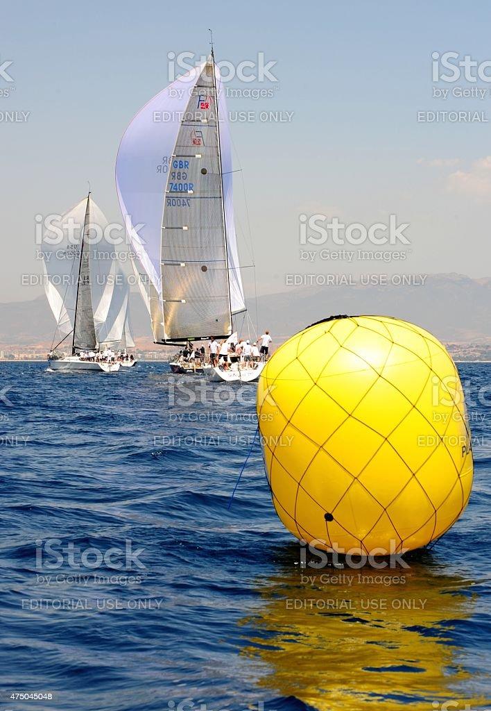 The regattas of the FARR40 stock photo