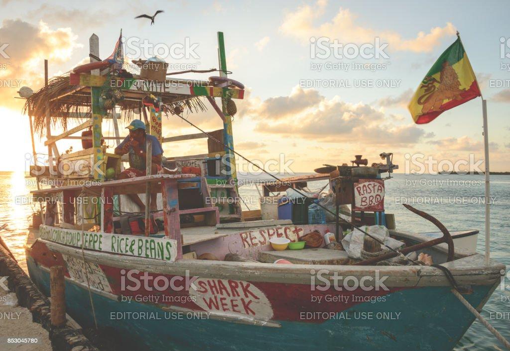 The Reggae Boat stock photo