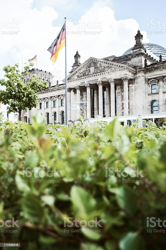 The Reichstag, Berlin. stock photo