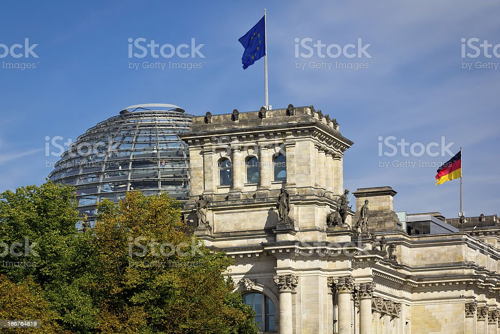 The Reichstag, Berlin royalty-free stock photo