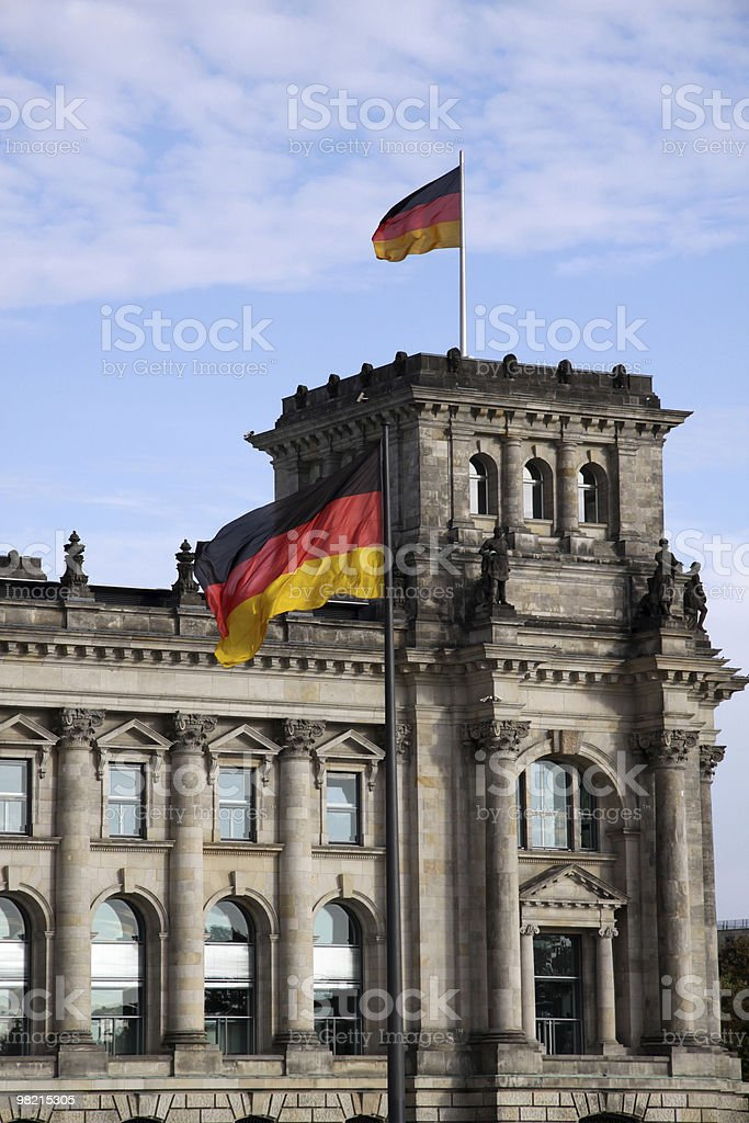 The Reichstag. Berlin royalty-free stock photo
