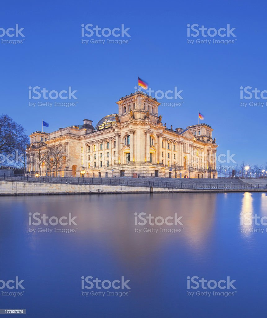 The Reichstag building (Bundestag), famous landmark in Berlin royalty-free stock photo