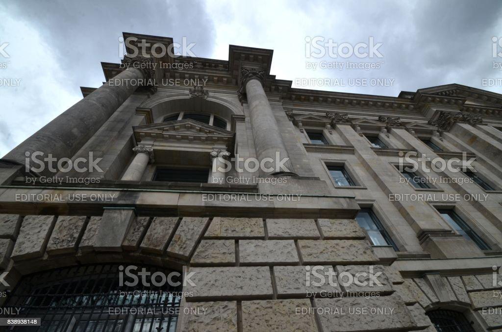 O Bulding de Reichstag em Berlim, Alemanha - foto de acervo