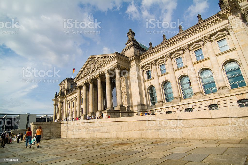 The Reichstag in Berlin stock photo