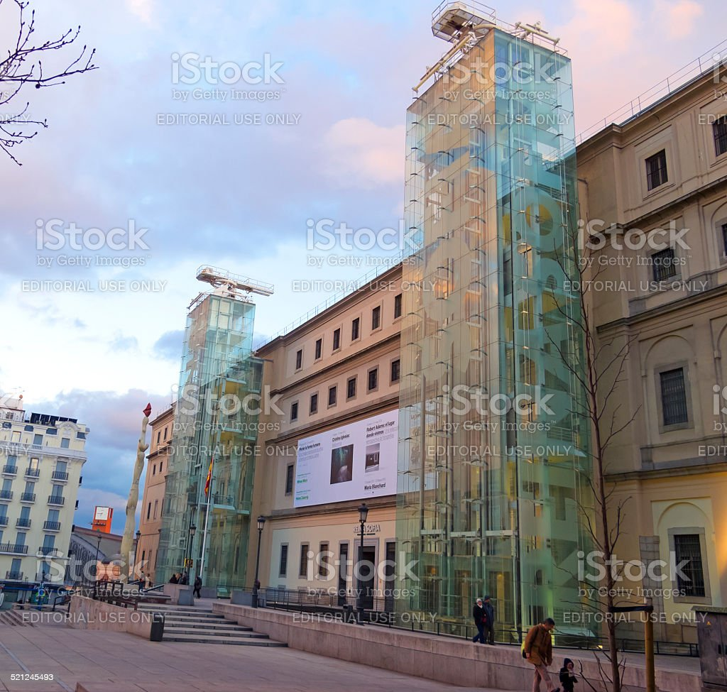 The Reina Sofia Museum. Madrid stock photo