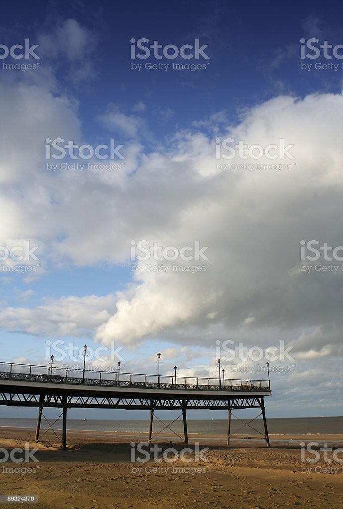 The remains of Skegness Pier, Lincolnshire UK royalty-free stock photo