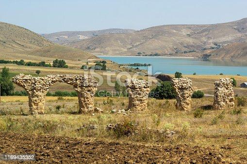 The remains of the 15th Apollonar legion in Satala (Sadak) on the northeastern border of the Roman Empire, Satala, Kelkit, Gumushane, Turkey