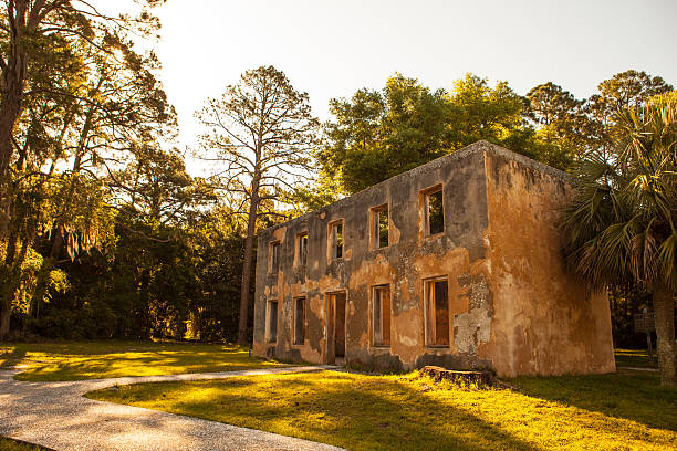The remains of the Horton House on Jekyll Island stock photo