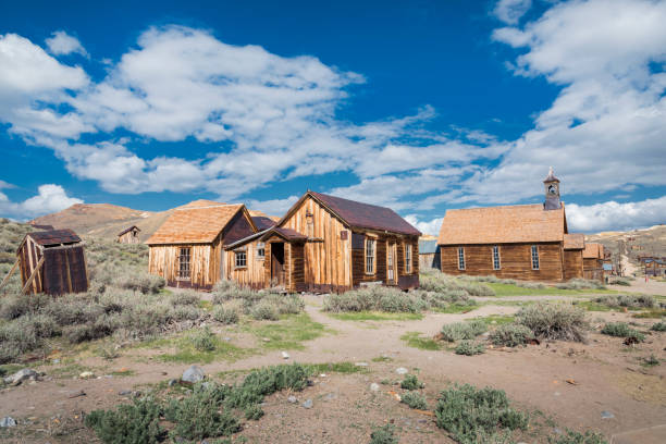 the remnants of the wildest city in the wild west - western town stock photos and pictures