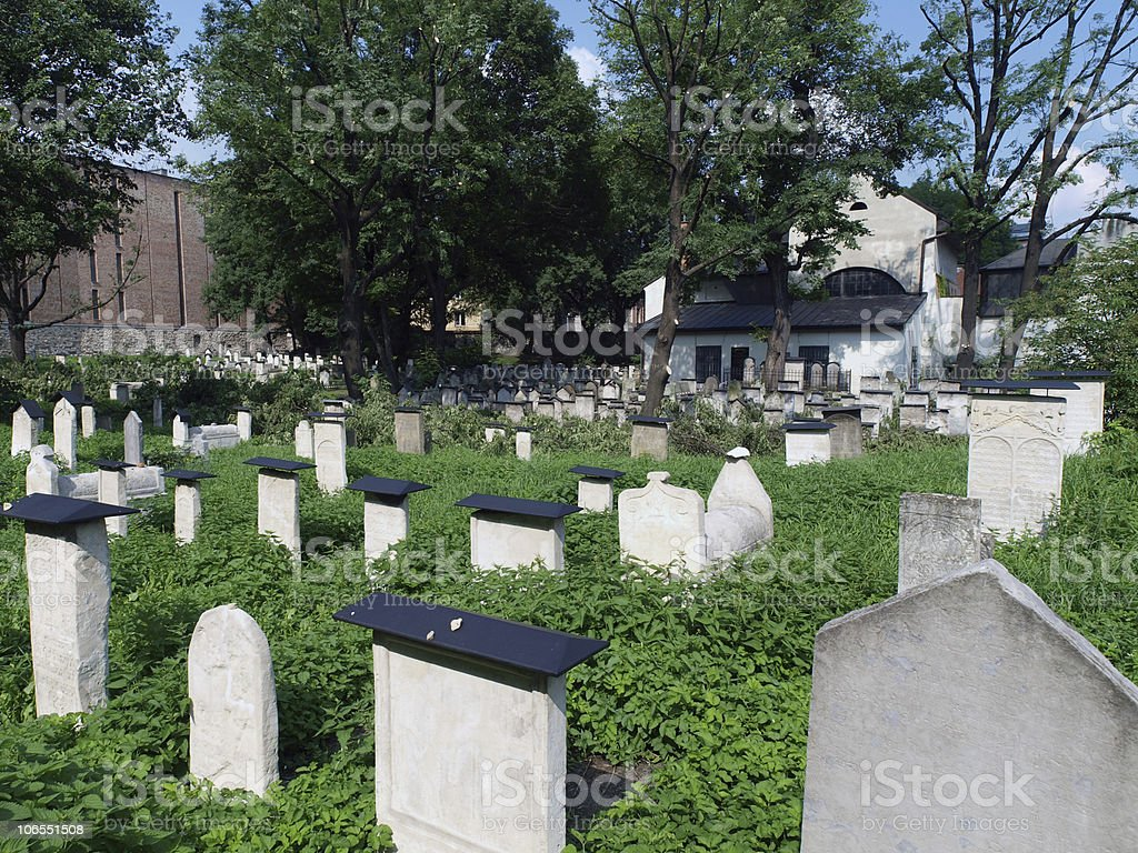 The Remuh Cemetery in Krakow royalty-free stock photo