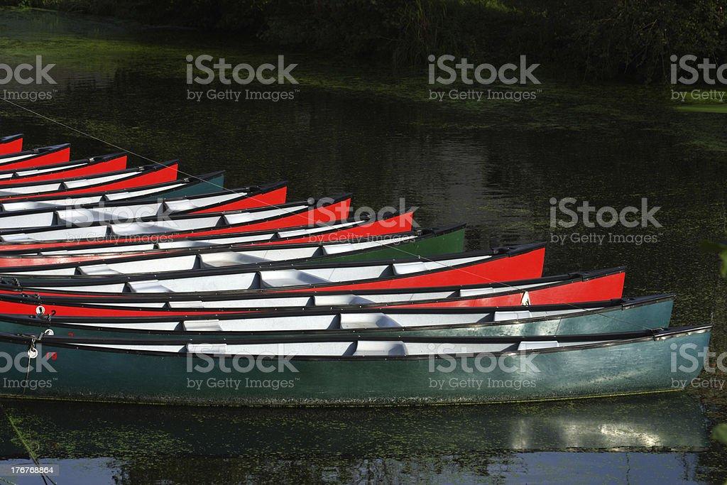 The rental boats stock photo
