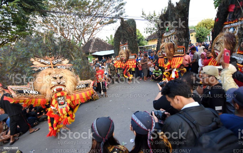 The reog ponorogo community held a show on the village road in a the reog ponorogo community held a show on the village road in a carnival royalty thecheapjerseys Gallery