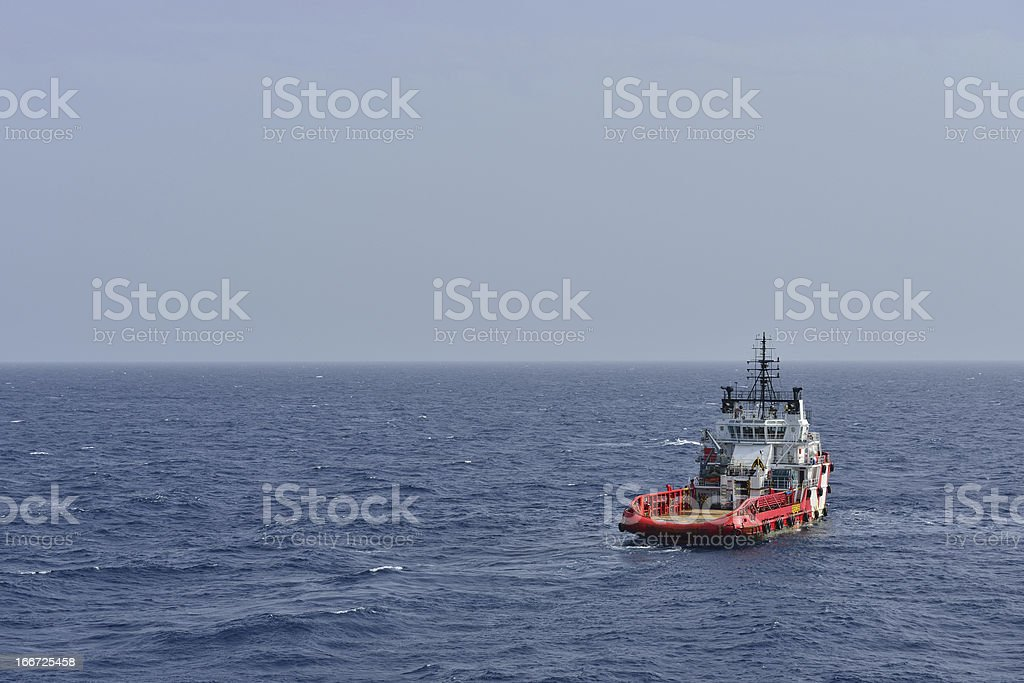 The rescue boat royalty-free stock photo