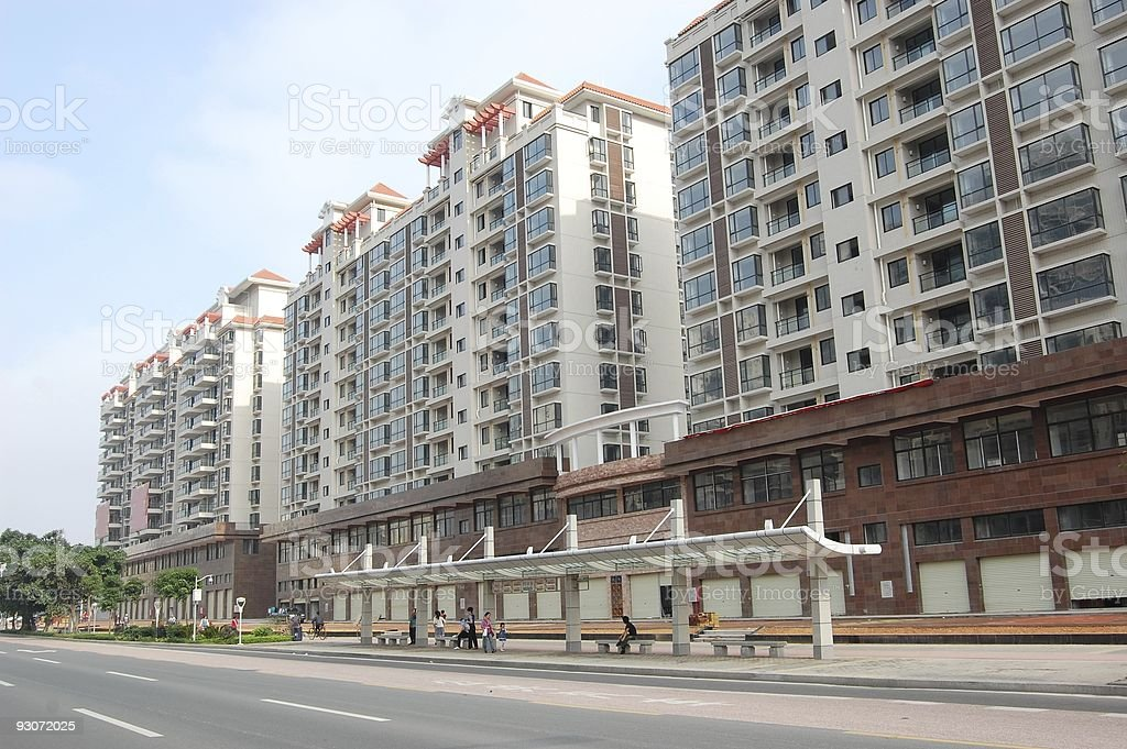 The residential buildings royalty-free stock photo