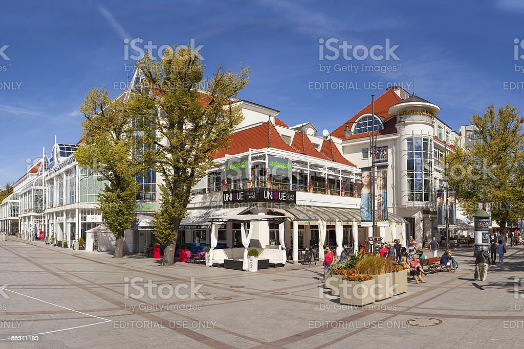 The Resort Square in Sopot, Poland. royalty-free stock photo