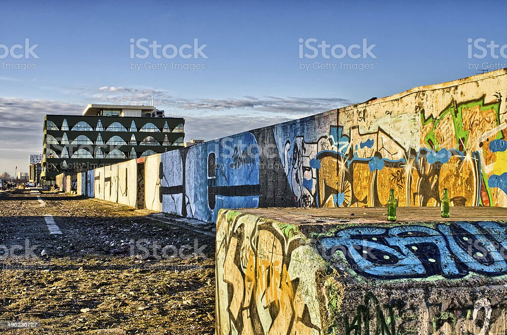The rest of Berlin Wall stock photo