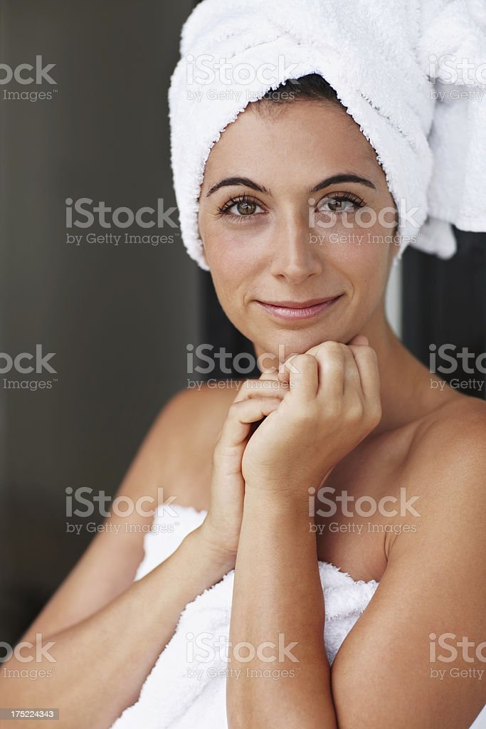 The result of a stress-relieving shower royalty-free stock photo