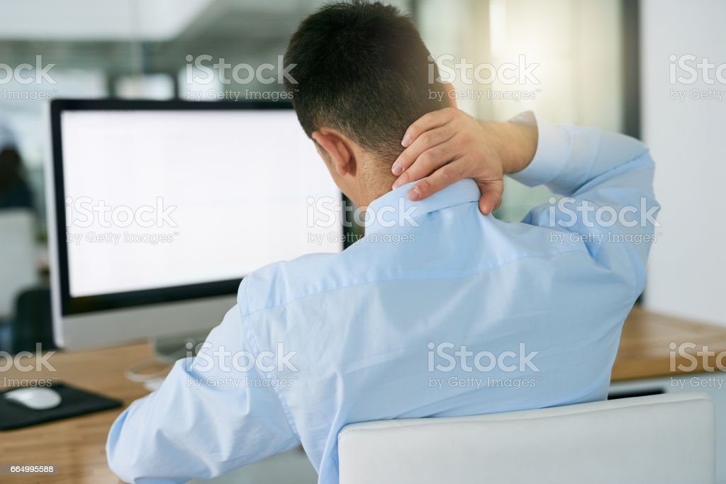 The result of bad posture stock photo