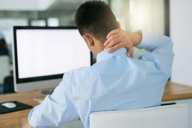 the result of bad posture - poprawna postawa zdjęcia i obrazy z banku zdjęć