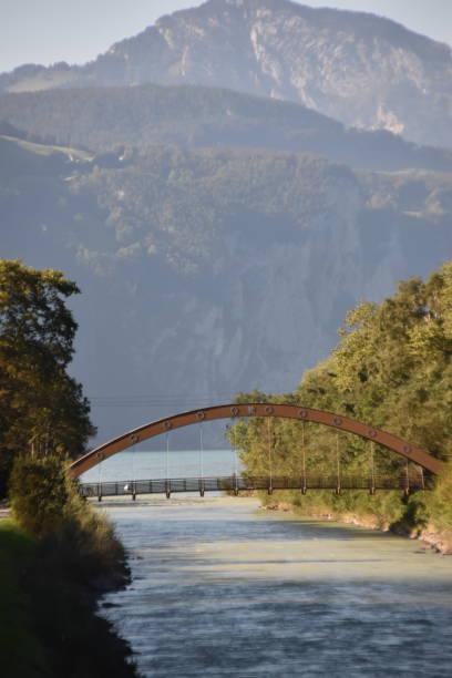 The Reuss River Bridge stock photo