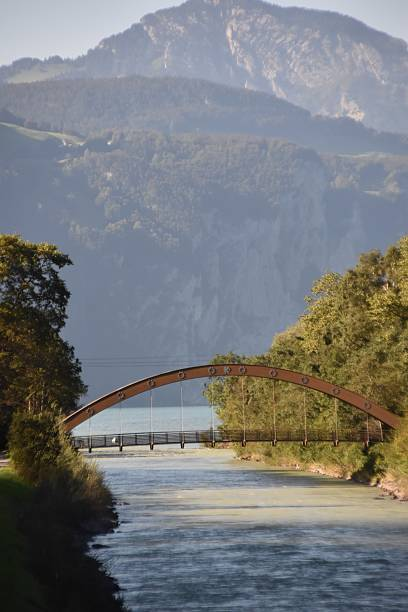 The Reusse River Bridge stock photo