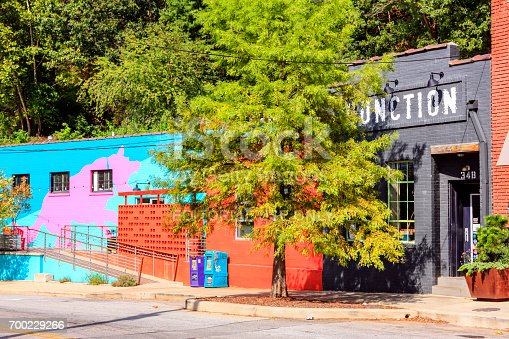 istock The reutilized warehouses in the River Arts District of Asheville NC, USA 700229266