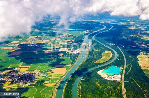 istock The Rhine and The Grand Canal of Alsace at Fessenheim 600059820
