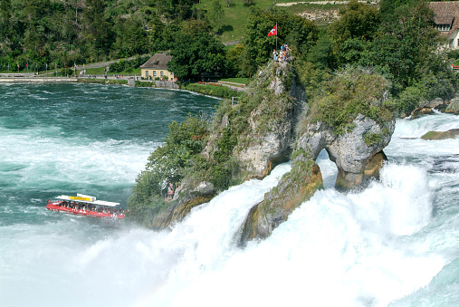 The Rhine waterfalls at Neuhausen on Switzerland