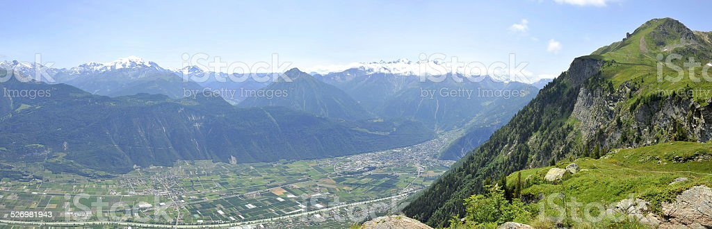 The Rhône valley stock photo