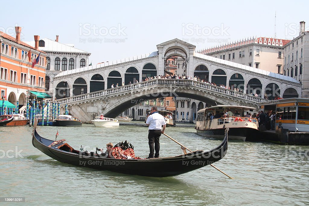 The Rialto Bridge stock photo