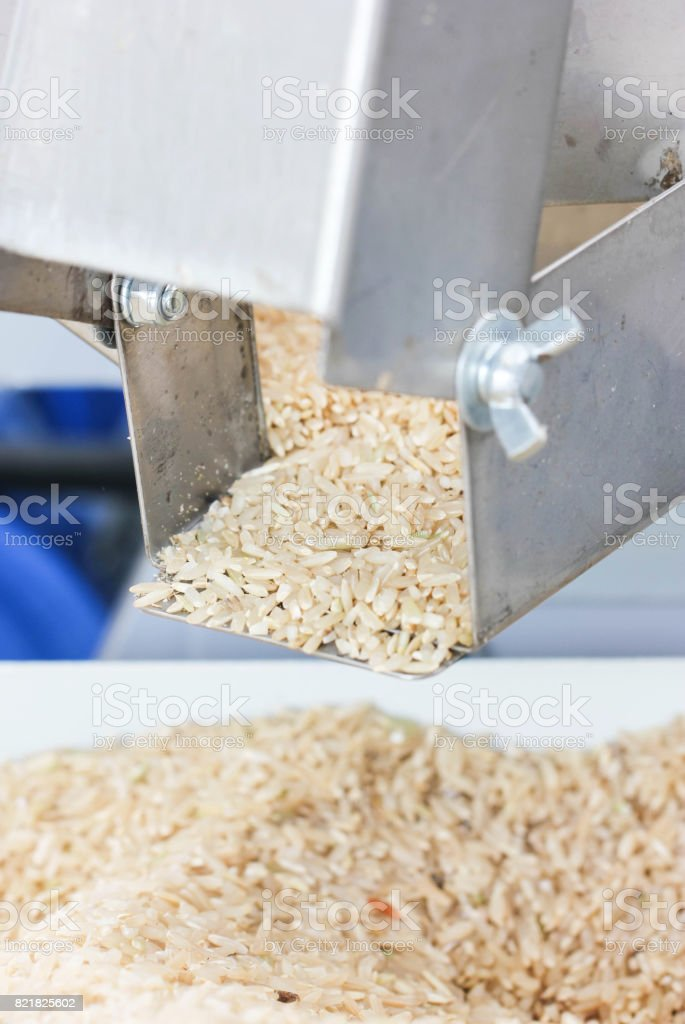 The Rice Milling Machine. stock photo
